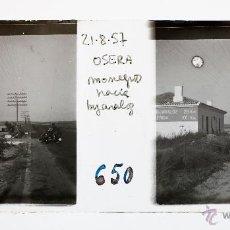 Old photograph - OSERA DE EBRO, MONEGROS HACIA BUJARALOZ. 21-8-1957. CRISTAL POSITIVO ESTEREO 10X4 CM. - 51117427