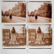 Fotografía antigua: HOLANDA, HOLLAND. 1915'S. ZAANDAM, 3 CRISTALES POSITIVOS ESTEREO 6X13 CM.. Lote 51397950