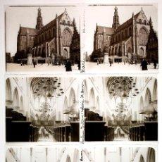 Fotografía antigua: HOLANDA, HOLLAND. 1915'S. HARLEM, 4 CRISTALES POSITIVOS ESTEREO 6X13 CM.. Lote 51398029