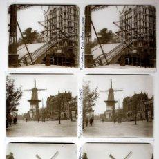 Fotografía antigua: HOLANDA, HOLLAND. 1915'S. ROTTERDAM, 14 CRISTALES POSITIVOS ESTEREO 6X13 CM. VER FOTOS. Lote 51398301