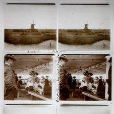 Fotografía antigua: HOLANDA, HOLLAND. 1915'S. AMSTERDAM, 23 CRISTALES POSITIVOS ESTEREO 6X13 CM.. Lote 51399985