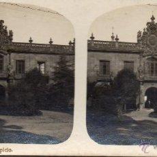 Fotografía antigua: OVIEDO. FOTOGRAFIA ANTIGUA ESTEREOSCOPICA. EL HOSPICIO. Lote 51664634