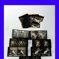 Fotografía antigua: 47 FOTOS ESTEREOSCÓPOCAS ERÓTICAS. REIMPRESIONES DE FOTOS DE PRINCIPIOS DE SIGLO.. Lote 51687718