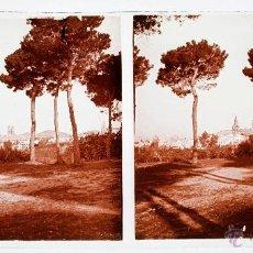 Fotografía antigua: BARCELONA COLEGIO SAN IGNASI DE SARRIÁ - 1915'S. CRISTAL POSITIVO ESTEREO 6X13 CM.. Lote 51876097