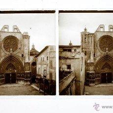 Fotografía antigua: CATEDRAL DE TARRAGONA, 1915'S. CRISTAL POSITIVO ESTEREO 6X13 CM.. Lote 51876254