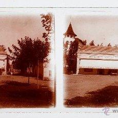 Fotografía antigua: GRAN BAZAR DEL MONTSENY, 1915'S. CRISTAL POSITIVO ESTEREO 6X13 CM.. Lote 51877542