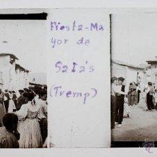 Fotografía antigua: FESTA MAJOR DE SALÀS DE PALLARS, TREMP, PROV. DE LLEIDA, 1910'S. APROX. CRISTAL POSITIVO 10X4CM.. Lote 51881242