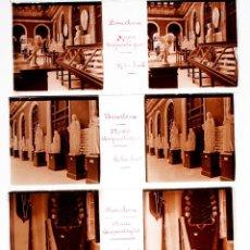 Fotografía antigua: BARCELONA, MUSEO ARQUEOLÓGICO, 1910'S. 13 CRISTALES POSITIVOS ESTEREO 10X4 CM.. Lote 51927650