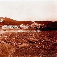 Fotografía antigua: CATALUÑA, PUEBLO POR IDENTIFICAR, 1915'S. CRISTAL POSITIVO ESTEREO 6X13 CM.. Lote 52132745