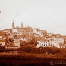 Fotografía antigua: PUEBLO POR IDENTIFICAR, 1915'S. CRISTAL POSITIVO ESTEREO 6X13 CM.. Lote 52132760