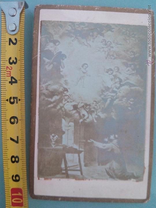 FOTOGRAFÍA ANTIGUA MEDIADOS S.XIX, CIRCA 1860S, DE UN CUADRO DE MURILLO. LA VISIÓN DE ST. ANTONIO DE (Fotografía Antigua - Estereoscópicas)