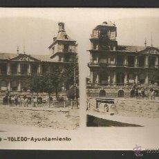 Fotografía antigua: TOLEDO - AYUNTAMIENTO - 17 X 8,8 CM - COLECCIÓN A.MARTÍN. Lote 52344456