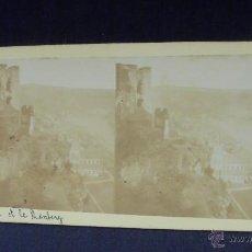 Fotografía antigua: ORILLAS DEL RHIN - OBERWESEL Y SCHOENBERG -. Lote 52390342
