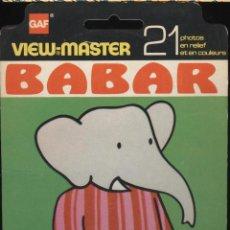 Fotografía antigua: VIEW MASTER - BABAR (3 DISCOS) . Lote 52457463