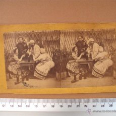 Fotografía antigua: ESTEREOSCOPICAS SOBRE 1900 - 2-UNIDADES. Lote 52527404