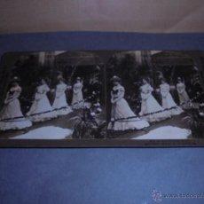 Fotografía antigua: VISTA ESTEREOSCÓPICA - H.C.WHITE CO. 5512 LA MARCHA NUPCIAL - 18X9 CM. . Lote 52817693