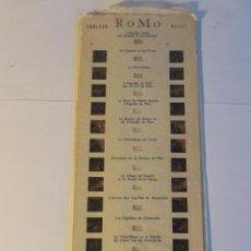 Fotografía antigua: TIRA CARTON STEREO CON VISTAS ESTEREOSCOPICAS ROMO 1211 MONT BLANC MACIZO DE MONTBLANC. Lote 53982704