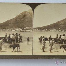 Fotografía antigua: MUY ANTIGUA FOTOGRAFÍA ESTEREOSCÓPICA *CIUDAD DEL CABO, SUDÁFRICA*, COPYRIGHT 1901 H.C. WHITE. Lote 52968577