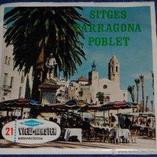 Fotografía antigua: VIEW MASTER - SITGES - TARRAGONA - POBLET (1955). Lote 101649896
