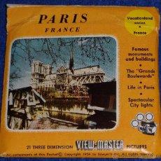 Fotografía antigua: VIEW MASTER - PARIS (1955). Lote 53634574