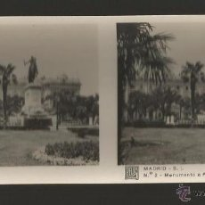 Fotografía antigua: MADRID - MONUMENTO A FELIPE IV - SERIE RELLEV - 12,8 X 5,8 CM. Lote 53662154