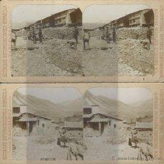Fotografía antigua: VISTAS DE GOSOL. SOCIEDAD ESTEREOSCOPICA ESPAÑOLA. 2 VISTAS. PRINCIPIOS DE S.XX.. Lote 53742404