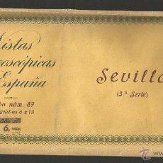 Fotografía antigua: SEVILLA - SERIE 3ª RELLEV - 15 VISTAS. Lote 53885530
