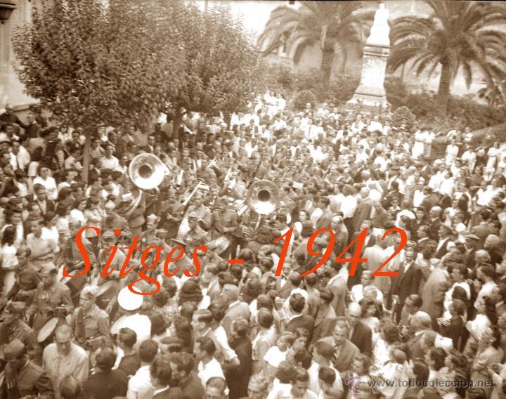 Fotografía antigua: SITGES - GEGANTS - 1942 - FESTA MAJOR - 5 NEGATIUS DE CEL·LULOIDE - Foto 3 - 53894469