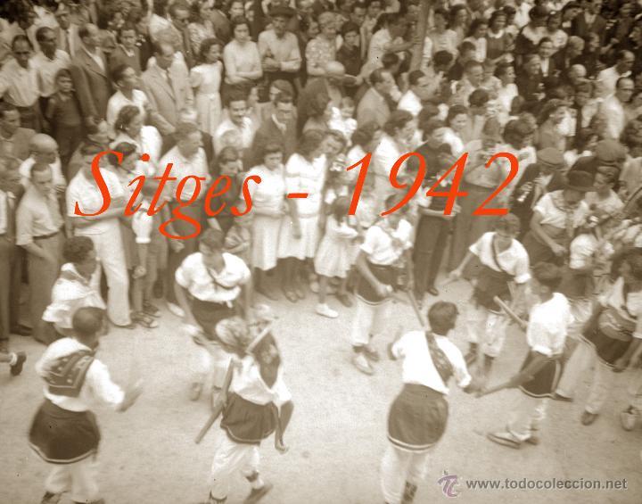 Fotografía antigua: SITGES - GEGANTS - 1942 - FESTA MAJOR - 5 NEGATIUS DE CEL·LULOIDE - Foto 4 - 53894469