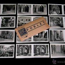 Fotografía antigua: POBLET TARRAGONA, 12 VISTAS ESTEREOSCÓPICAS, RELLEV. COLECCIÓN ORIGINAL AÑOS 30. COMPLETA.. Lote 53944187