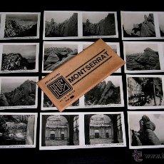 Fotografía antigua: MONTSERRAT BARCELONA, 12 VISTAS ESTEREOSCÓPICAS, RELLEV. COLECCIÓN ORIGINAL AÑOS 30. COMPLETA.. Lote 53944657