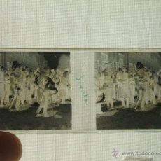 Fotografía antigua: SEVILLA ALFONSO XIII Y AUTORIDADES VISTA ESTEREOSCOPICA EN CRISTAL NEGATIVO NUEDA FOTÓGRAFO . Lote 54027337