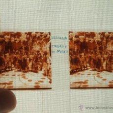 Fotografía antigua: SEVILLA CRUCES DE MAYO VISTA ESTEREOSCOPICA CRISTAL NUEDA FOTÓGRAFO . Lote 54027427