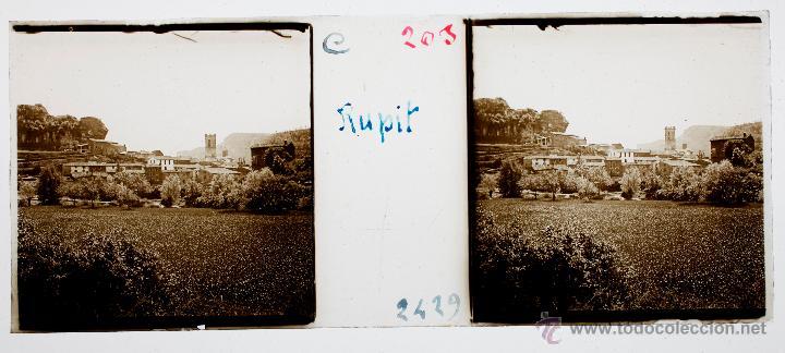 Fotografía antigua: RUPIT, 1915 APROX. CRISTAL POSITIVO ESTEREO 10X4 CM. - Foto 2 - 54653560