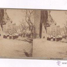 Fotografía antigua: MONTSERRAT, SOCIETÉ STÉRÉOSCOPIQUE, 9 X 17,5 CM. 1890'S.. Lote 55050191