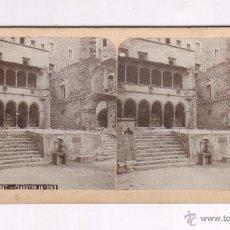 Fotografía antigua: MONTSERRAT, 18. CLAUSTRO ANTIGUO. 9 X 17,5 CM. 1900'S. SOCIEDAD ESTEREO ESPAÑOLA. Lote 55050654