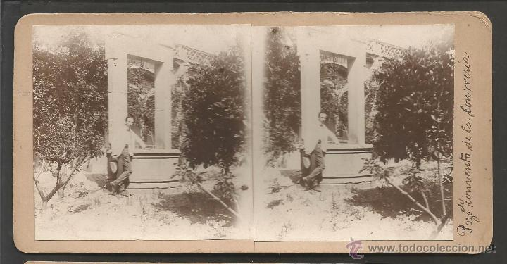LA CONRERIA - TIANA - FOTO ESTEREOSCOPICA - MIDE 8,5 X 17,5 CM - (V-4754) (Fotografía Antigua - Estereoscópicas)