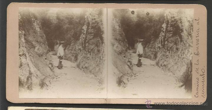 LA CONRERIA - TIANA - FOTO ESTEREOSCOPICA - MIDE 8,5 X 17,5 CM - (V-4755) (Fotografía Antigua - Estereoscópicas)