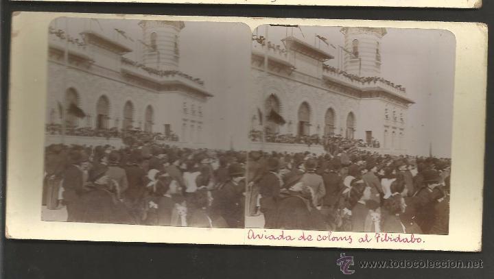 BARCELONA - TIBIDABO - FOTO ESTEREOSCOPICA - MIDE 8,5 X 17,5 CM - (V-4761) (Fotografía Antigua - Estereoscópicas)