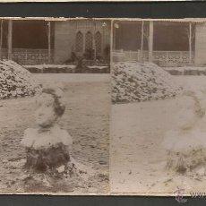 Fotografía antigua: BARCELONA - FOTO ESTEREOSCOPICA - MIDE 8,5 X 17,5 CM - (V-4767). Lote 55082236