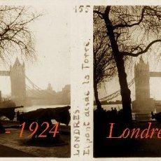 Fotografía antigua: LONDRES - 1924 - POSITIVO DE VIDRIO. Lote 56835598