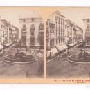 Fotografía antigua: MADRID, 11. FONTAINE ET PLACE S. ANTONIO MARTIN. 1860'S.. Lote 57328847