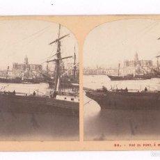 Fotografía antigua: MÁLAGA, 80. VUE DU PORT, 1860'S. Lote 57328966