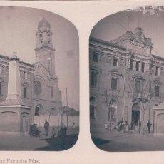 Fotografía antigua: VISTA ESTEROSCOPICA CASTELLON Nº2- LAS ESCUELAS PIAS. Lote 57386232