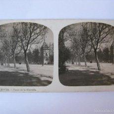Fotografía antigua: ESTEREOSCOPICA DE VALENCIA - PASEO DE LA ALAMEDA. Lote 57801265
