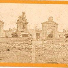 Old photograph - Madrid. Puerta de San Vicente y fuente de los Mascarones. 1857. Fotografía de Gaudin. - 57954625