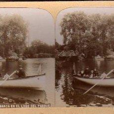 Old photograph - Sociedad estereoscópica española. Barcelona. 660. La Barca en el lago del Parque. - 58060768
