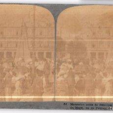 Fotografía antigua: FOTO ESTEREOSCÓPICA CUBA,INAUGURACIÓN DE LA ESTATUA DE MARTÍ,PARQUE CENTRAL,ORIGINAL,RARA EN ESPAÑA. Lote 58195520
