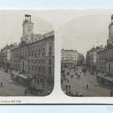 Fotografía antigua: EL TURISMO PRÁCTICO. VISTA ESTEREOSCÓPICA. Nº6 MADRID. PUERTA DEL SOL.. Lote 58486290