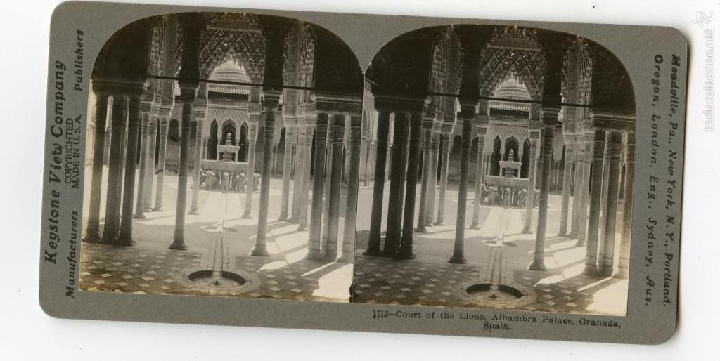 Estereoscopica Patio De Los Leones La Alhambr Comprar